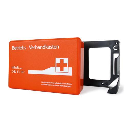 Betriebsverbandkasten DIN 13157 orange (mit Wandhalterung)