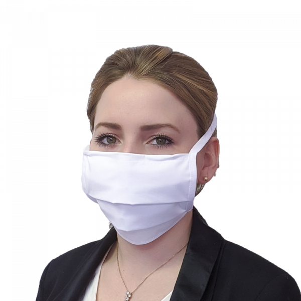Mund-Nasen-Schutz mit Nasenbügel und Befestigungsbändern, dreilagig