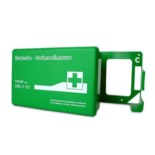Betriebsverbandkasten DIN 13157 grün (mit Wandhalterung)