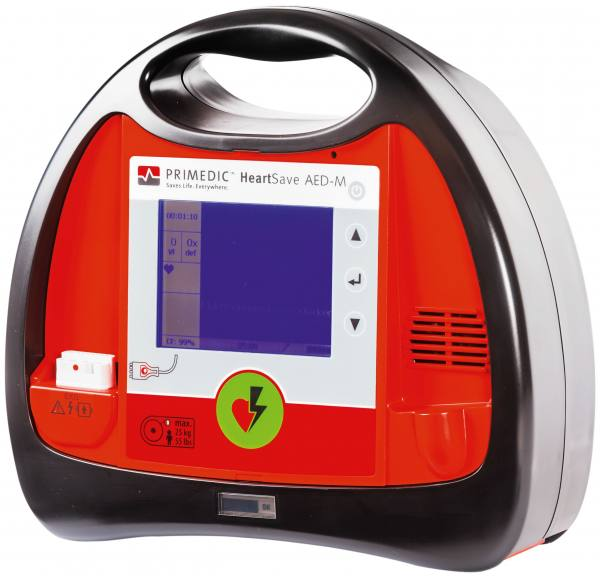 Primedic HeartSave AED-M Defibrillator, transflektiv, halbautomatisch