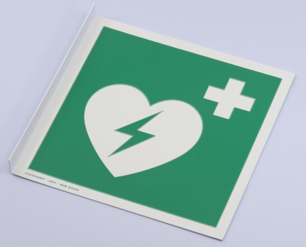 Fahnenschild Defibrillator