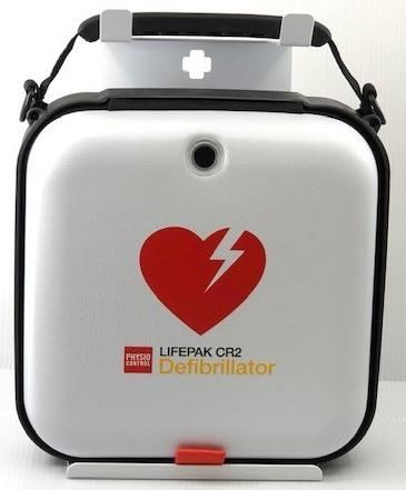 Wandhalterung für LIFEPAK CR2 mit Hardshell-Tasche, weiß