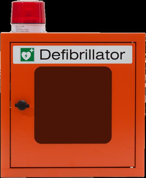 PAVOY AED-Wandschrank Metall mit Alarm - Warnleuchte und Sirene